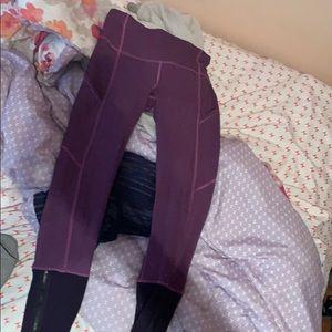 purple lululemon cropped leggings